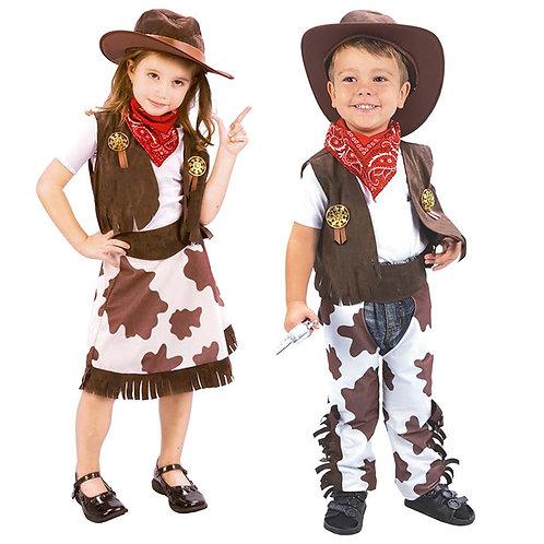 Disfraces Vaquero O Vaquera Excelente Calidad