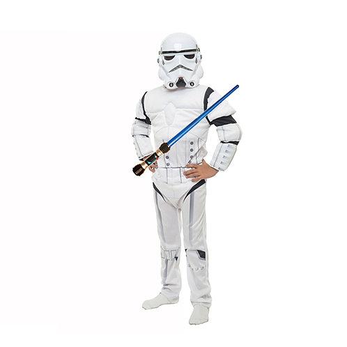 Disfraz StormTrooper Deluxe Star Wars Original con Sable luz y sonido