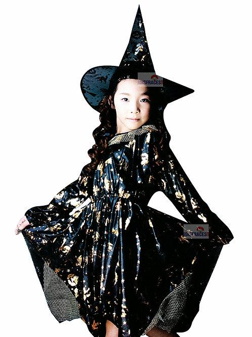 Disfraz Halloween Bruja Brujita Con Sombrero