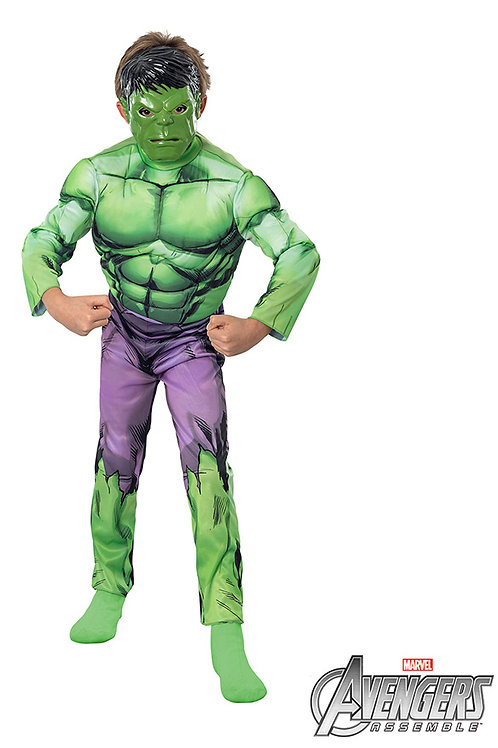 Disfraz Hulk con Musculos Original Marvell