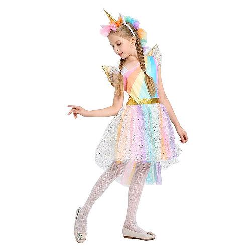 Disfraz Unicornio Deluxe Con Alas Y Cuernito