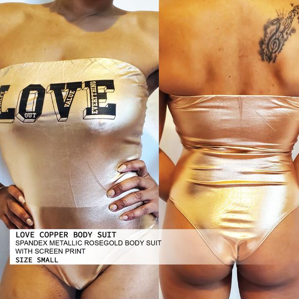 LOVE COPPER BODY SUIT