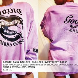 GOODIE GANG BIG SHOULDER SWEATSHIRT DRESS