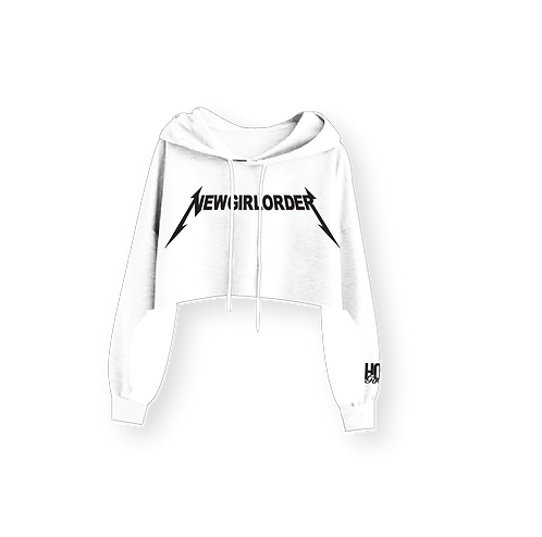 NEW GIRL ORDER NO JUSTICE NO PEACE CROP HOODIE