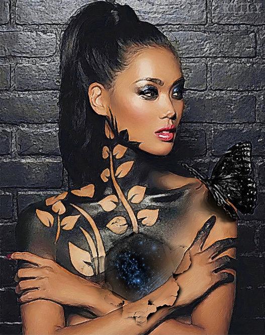 Surrealism naked female art