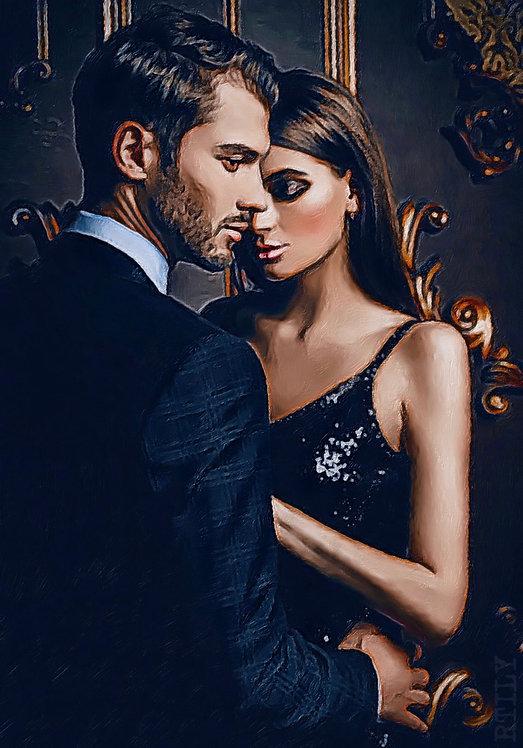 Artwork of Elegant, Sensual and Romantic couple
