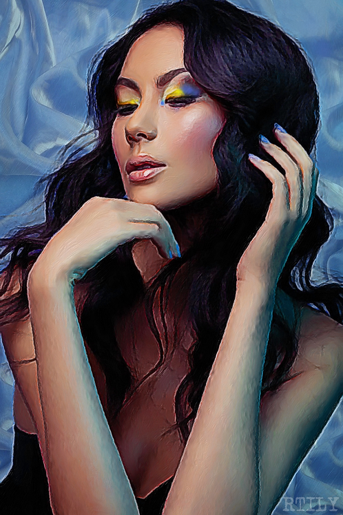 Beautiful Oriental portrait artwork