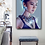 Wall art of stunning oriental woman with necklace