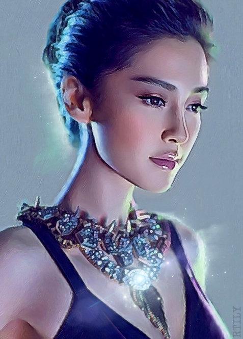 Original Artwork of stunning oriental woman