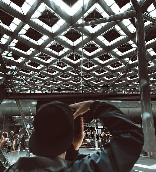 Vista posterior del fotógrafo