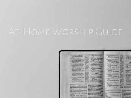 At-Home Worship Guide For Sunday, June 14