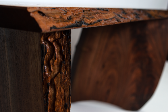 Live Edge Bench Detail