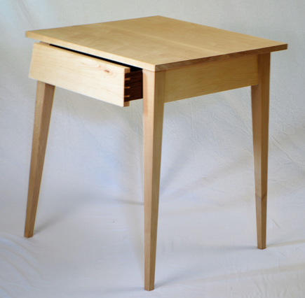 Splayed Legged Table with Drawer