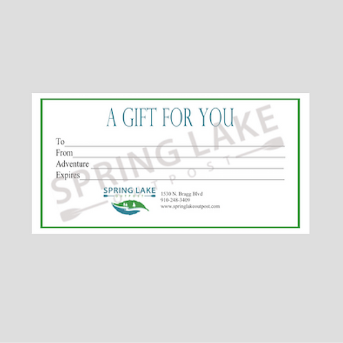 Gift Card - Kayaking For One