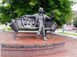 Памятник актёру Папанову в Вязьме