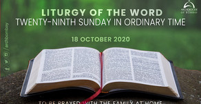Liturgy of the Word - October 18, 2020