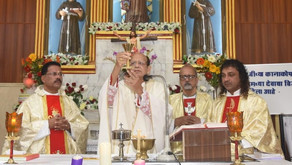Oswald Cardinal Gracias, Archbishop of Bombay, visits the Raigad Missions