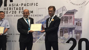 'Award of Merit' at UNESCO Asia-Pacific Awards for Cultural Heritage Conservation of Gloria Church