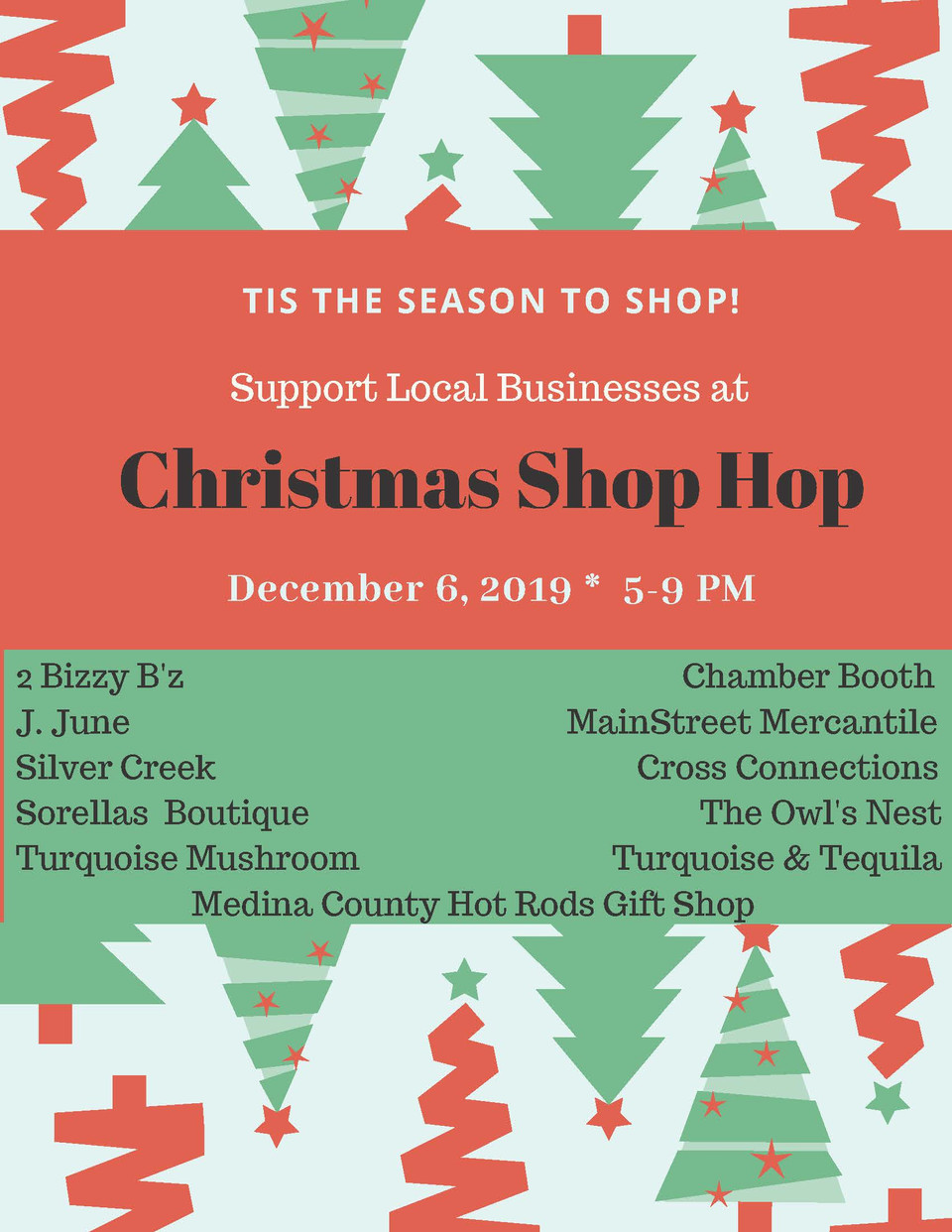 Check Off Everyone on Your List at our Christmas Shop Hop!