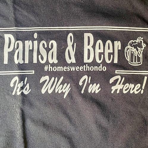 Black  Parisa and Beer T-Shirt