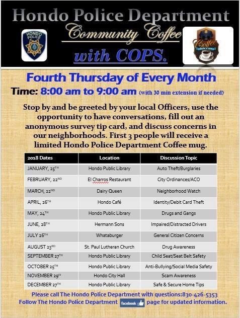 Community Coffee with the Cops