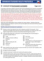 Open Texas Restuarant Customer Checklist