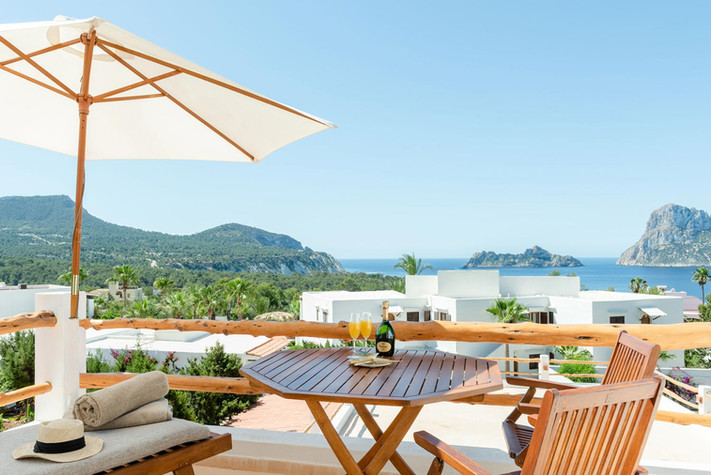 A private terrace with stunning views