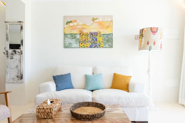 A splash of color in each suite