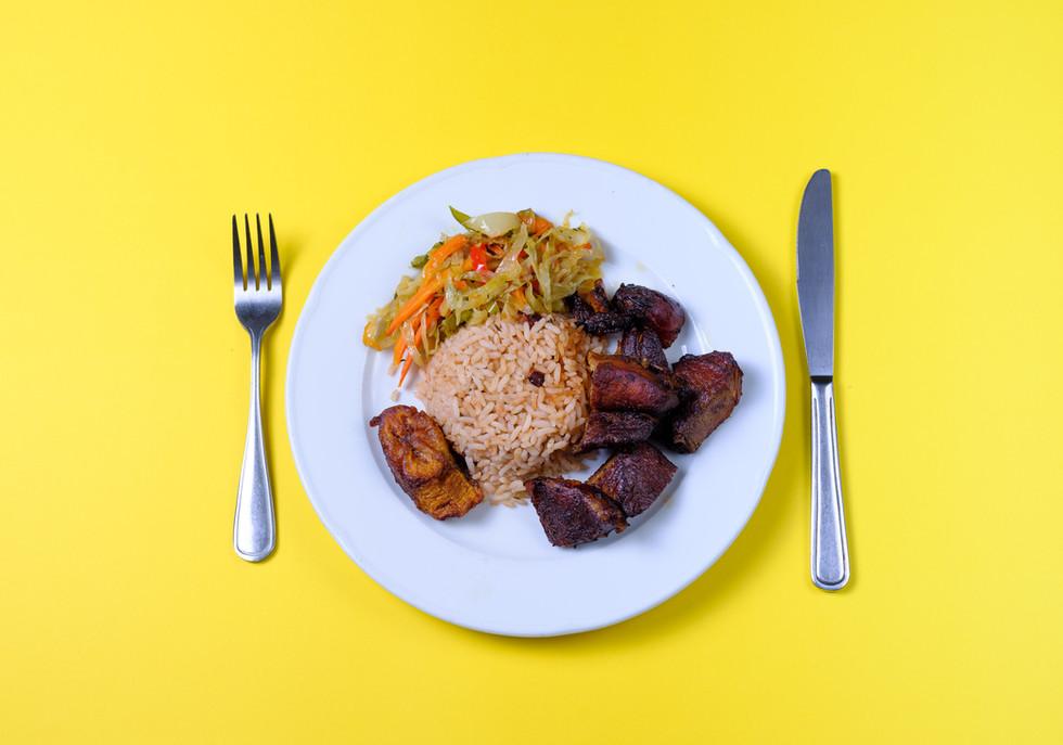 Jerk Pork Dinner