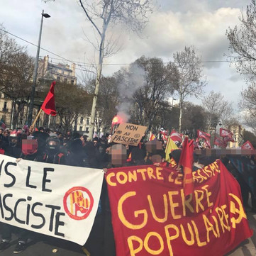 FRANCE - FRAP campaign against fascist local in Marseille