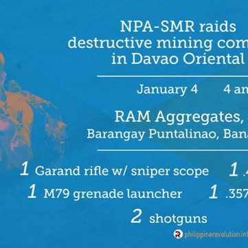 PHILIPPINES - At least 26 soldiers killed by NPA in December