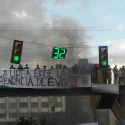 Struggle of the UPEA in El Alto