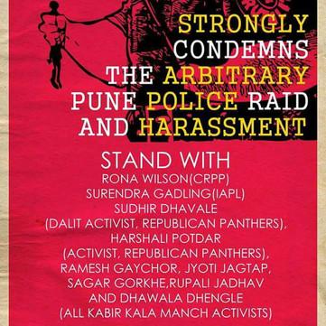 INDIA - Condemn the Arrests of democratic activists in India!