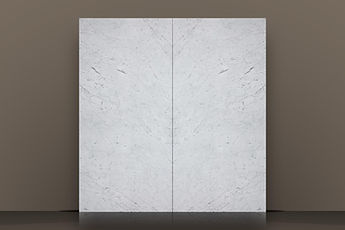 bianco carrara extra polished marble bookmatched slab
