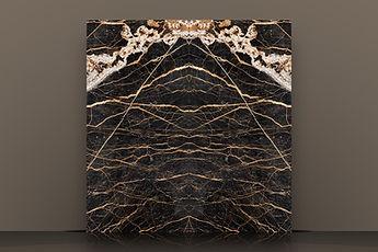 noir st laurent bookmatched polished marble slab