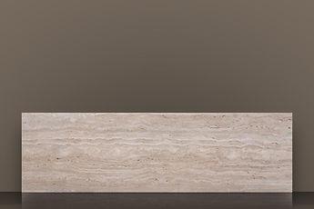 Romano Bianco Honed Travertine Vein-cut Slab