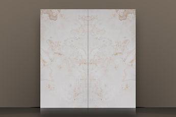 White Polished Onyx Cross-Cut Backlit Bookmatched Slab