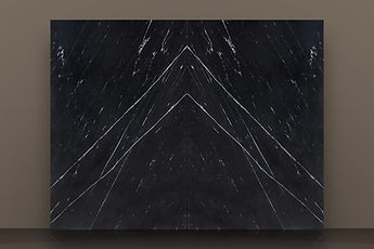 Nero Marquina Antiqued Granite Bookmatched Slab