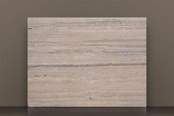 Romano Silver Honed Travertine Vein-cut Slab