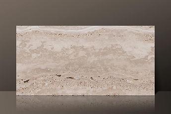 Romano Bianco Honed Travertine Vein-Cut Tile