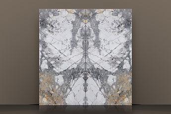 Iceberg Gold Polished Marble Bookmatched Slab