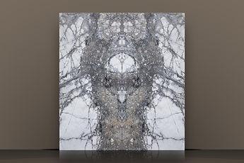 Iceberg Grey Polished Marble Bookmatched  Slab