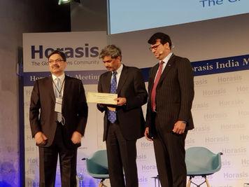Receiving KPMG - Horasis India Transformational Leader Award