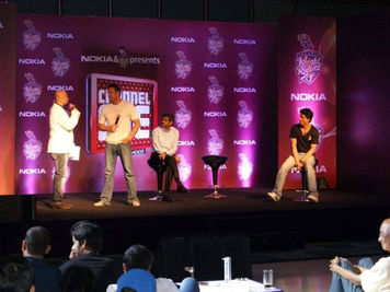 With SRK and KKR team