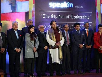 Receiving SpeakIn Award For Top 10 Speakers In India
