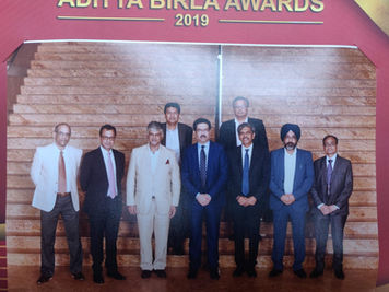 The Global Textile's Team and Mr Birla