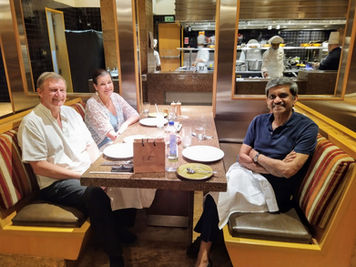 With Tony Henshaw Chief Sustainability Officer ABG & his Wife, Farewell in Covid Time