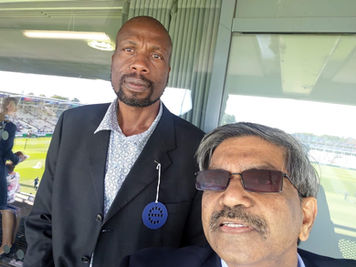 With Curtly Ambrose At Edgbaston