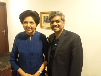 With My Ex Boss Indra Nooyi in her Chennai House
