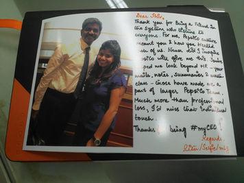 Farewell from Ritu, Pepsico